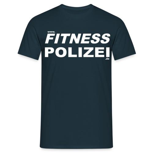 Fitness-Polizei Shirt Navy - Männer T-Shirt