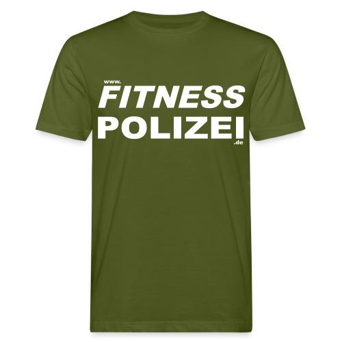 BIO Fitness-Polizei Shirt grün - Männer Bio-T-Shirt
