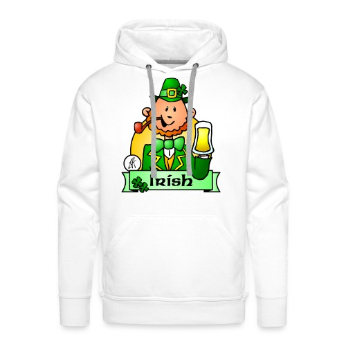 Paddy celebrates St. Patrick's Day - Men's Premium Hoodie
