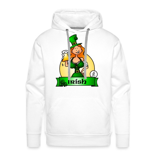 St. Patrick's Day Irish Maiden - Men's Premium Hoodie