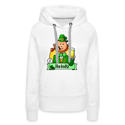 Paddy celebrates St. Patrick's Day - Women's Premium Hoodie