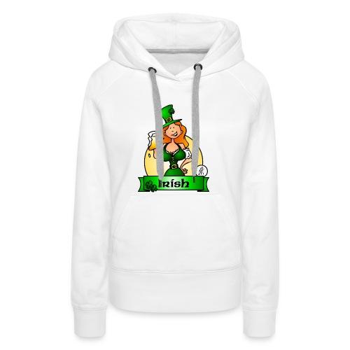 St. Patrick's Day Irish Maiden - Women's Premium Hoodie