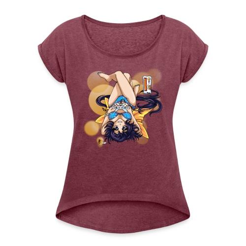 Gamer Girl - Frauen Roll on Arm Shirt - Frauen T-Shirt mit gerollten Ärmeln
