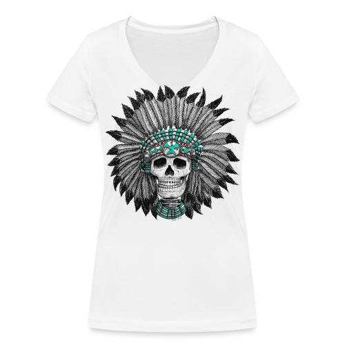Indian Skull - Frauen Bio-T-Shirt mit V-Ausschnitt von Stanley & Stella
