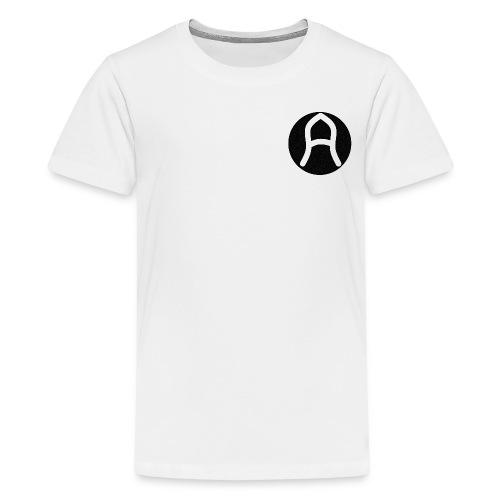 Areis | Black on White - Teenage Premium T-Shirt