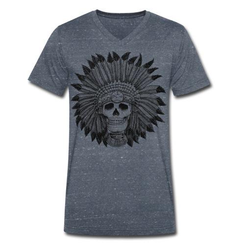 Indian Skull - Männer Bio-T-Shirt mit V-Ausschnitt von Stanley & Stella
