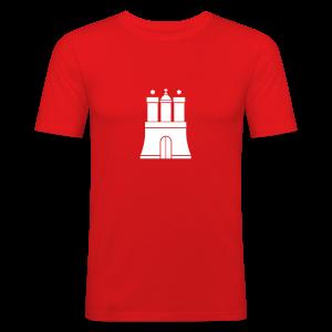 Hamburger Wappen Slim Fit T-Shirt - Männer Slim Fit T-Shirt