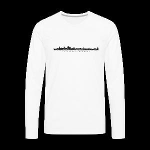 Hansestadt Hamburg Skyline (Schwarz) Langarmshirt - Männer Premium Langarmshirt