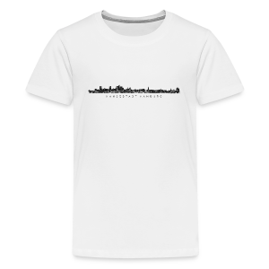 Hansestadt Hamburg Skyline (Schwarz) Teenager T-Shirt - Teenager Premium T-Shirt