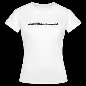 Hansestadt Hamburg Skyline (Schwarz) T-Shirt - Frauen T-Shirt