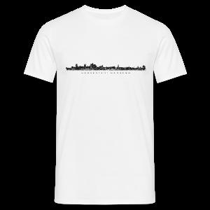 Hansestadt Hamburg Skyline (Schwarz) T-Shirt - Männer T-Shirt