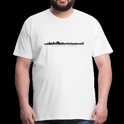 Hansestadt Hamburg Skyline (Schwarz) S-5XL T-Shirt - Männer Premium T-Shirt