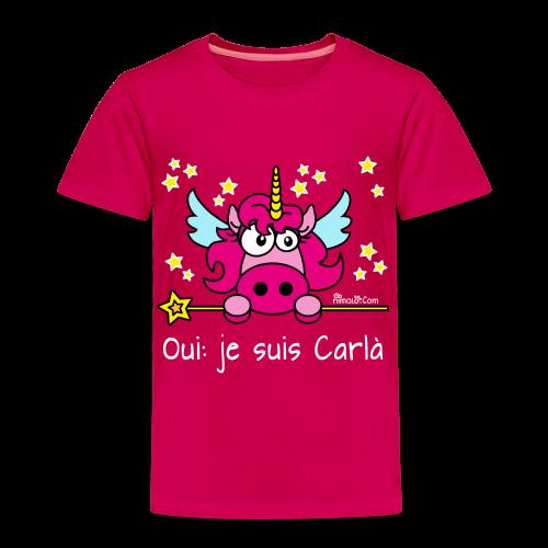 Tee shirt Premium Enfant - Licorne, Oui: je suis Carlà WT - T-shirt Premium Enfant