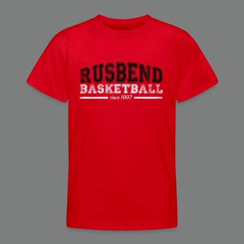 Kids Rusbend Logo T Schwarz - Teenager T-Shirt