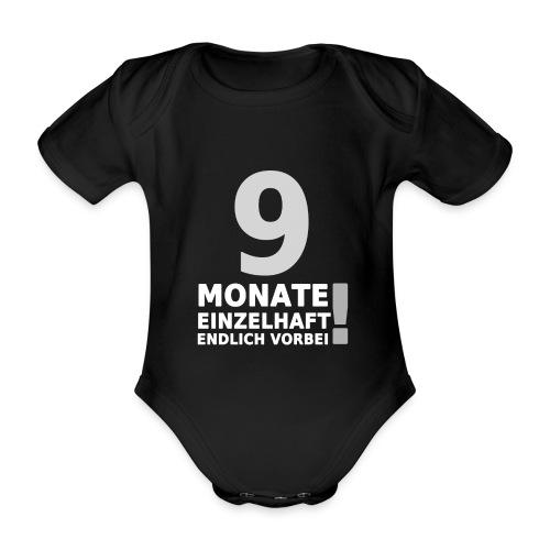 9 Monate Einzelhaft (Baby-Black) - Baby Bio-Kurzarm-Body