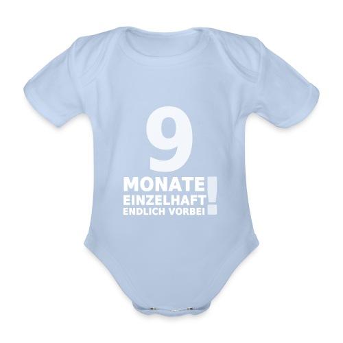 9 Monate Einzelhaft (Baby-Red) - Baby Bio-Kurzarm-Body