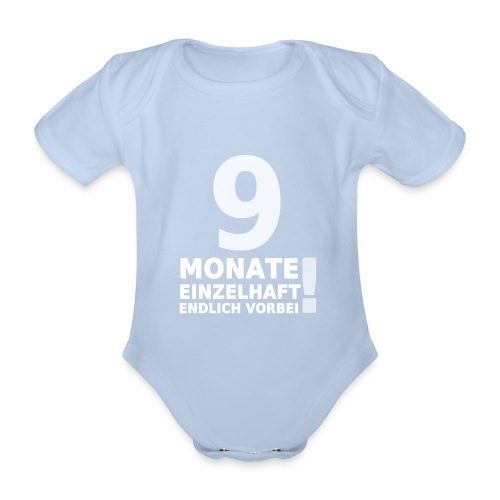 9 Monate Einzelhaft (Baby-Pink) - Baby Bio-Kurzarm-Body