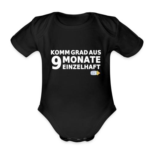 9 Monate Einzelhaft (Black) - Baby Bio-Kurzarm-Body