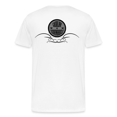 White with Logo's - Men's Premium T-Shirt
