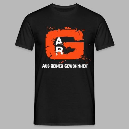 A.R.G. T - Shirt in Schwarz mit Rot / Weißem Logo - Männer T-Shirt