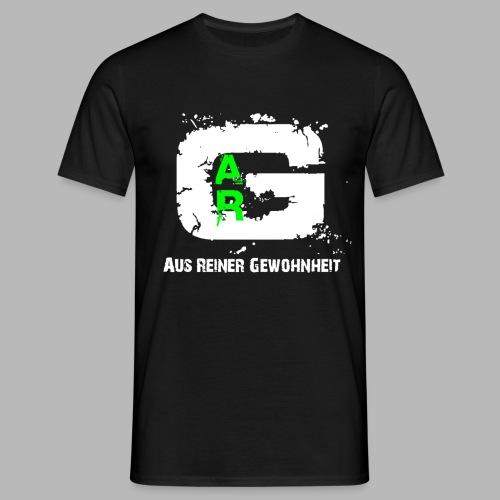 A.R.G. T - Shirt in Schwarz mit weißem Logo - Männer T-Shirt