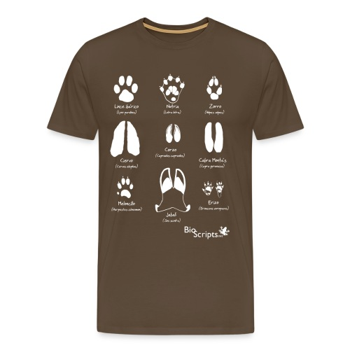 Huellas de mamíferos (B) - Camiseta premium hombre