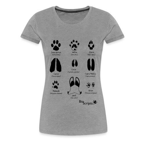 Huellas de mamíferos  (N) - Camiseta premium mujer