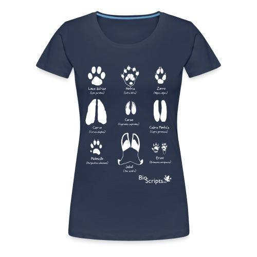 Huellas de mamíferos  (B) - Camiseta premium mujer