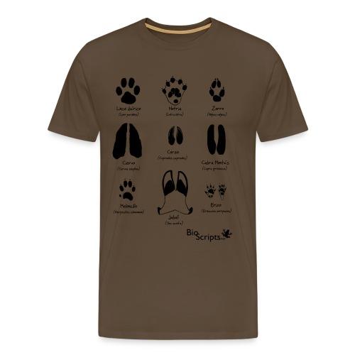 Huellas de mamíferos (N) - Camiseta premium hombre