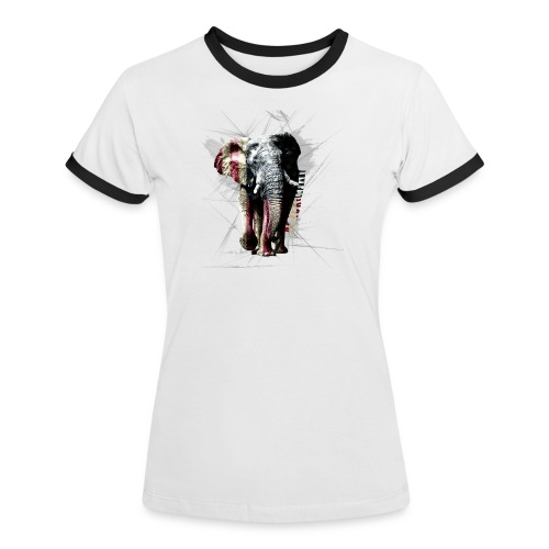 Frauen-Shirt Black Elephant America - Frauen Kontrast-T-Shirt