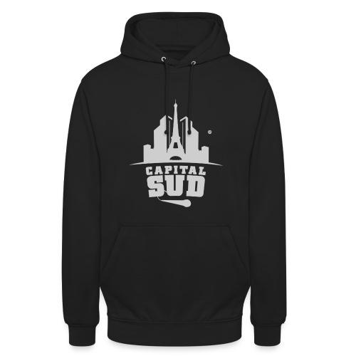 Pull Capital Sud Noir - Logo en gros - Sweat-shirt à capuche unisexe