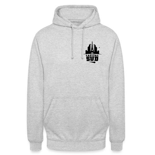 Pull Capital Sud Gris - Logo petit coté - Sweat-shirt à capuche unisexe