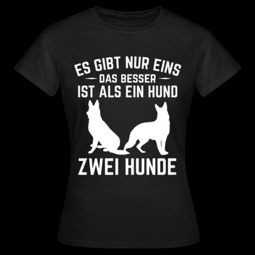 Frauen Shirt: Es gibt nur eins das besser ist als ein Hund - Frauen T-Shirt