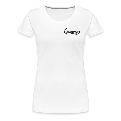 Generzon Logo - Top Right (Womens) - Women's Premium T-Shirt