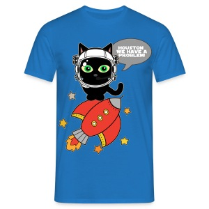 Space Cat - Houston we have a problem - Men's T-Shirt