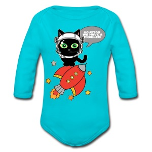 Space Cat - Houston we have a problem - Baby One-piece