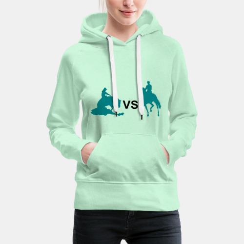 Western VS Dressur Frauen Kapuzenpullover - Frauen Premium Hoodie