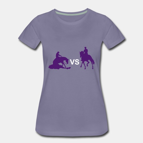 Western VS Dressur Girlie Shirt - Frauen Premium T-Shirt