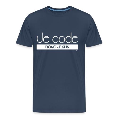 T-Shirt Homme Je code donc je suis - T-shirt Premium Homme