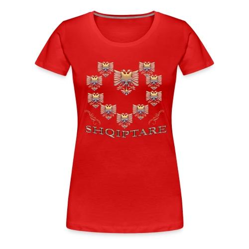 Shqiptare me Zemer te Art - Design - Frauen Premium T-Shirt