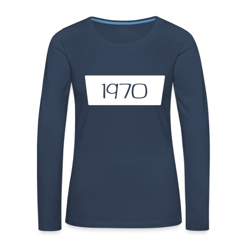 1970 - Vrouwen Premium shirt met lange mouwen
