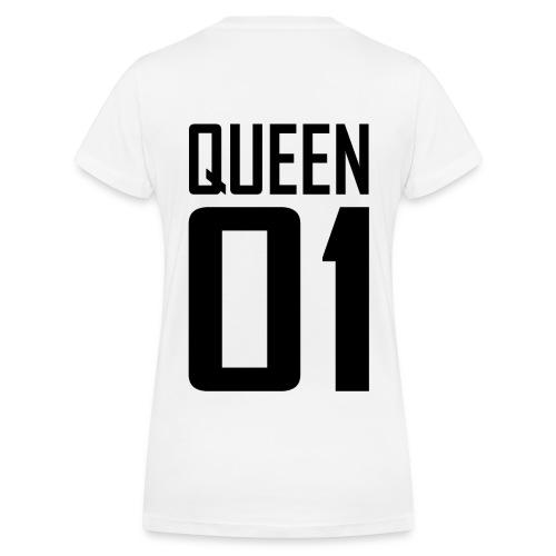 QUEEN 01 white - Frauen Bio-T-Shirt mit V-Ausschnitt von Stanley & Stella
