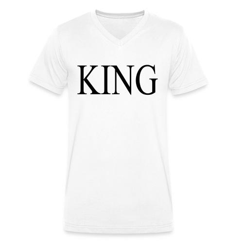 KING white - Männer Bio-T-Shirt mit V-Ausschnitt von Stanley & Stella