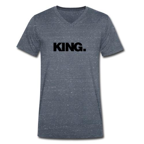 KING. white/grey - Männer Bio-T-Shirt mit V-Ausschnitt von Stanley & Stella