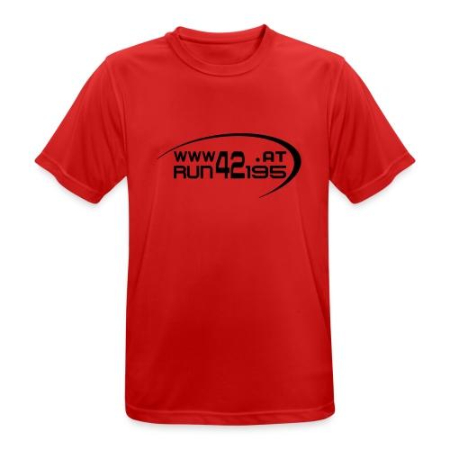 Männer Funktionsshirt neu - Logo frontschwarz - Männer T-Shirt atmungsaktiv