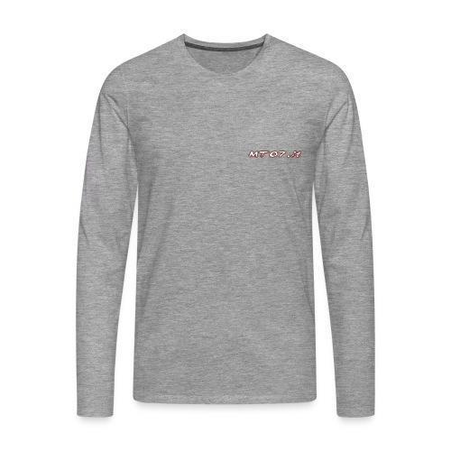 Maglia maniche lunghe, logo piccolo laterale - Maglietta Premium a manica lunga da uomo