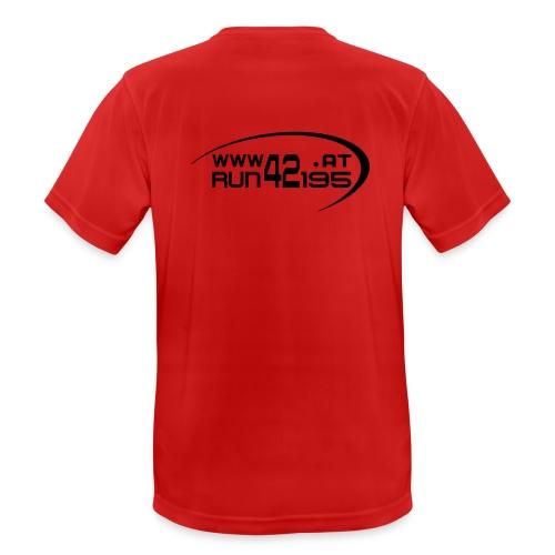 Männer Funktionsshirt neu - Logo back schwarz - Männer T-Shirt atmungsaktiv