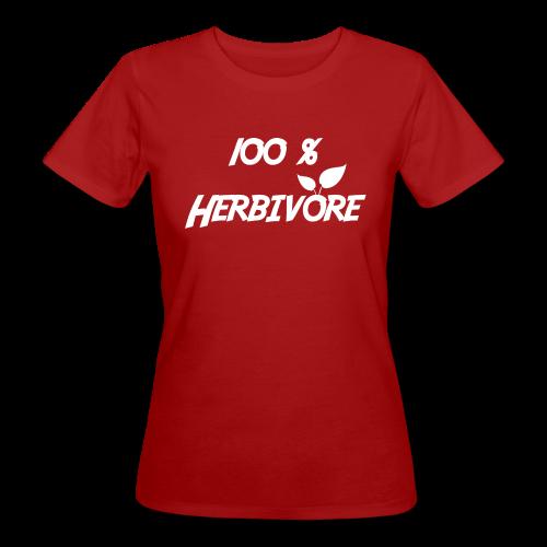 Tee shirt Bio Femme 100% Herbivore - T-shirt bio Femme