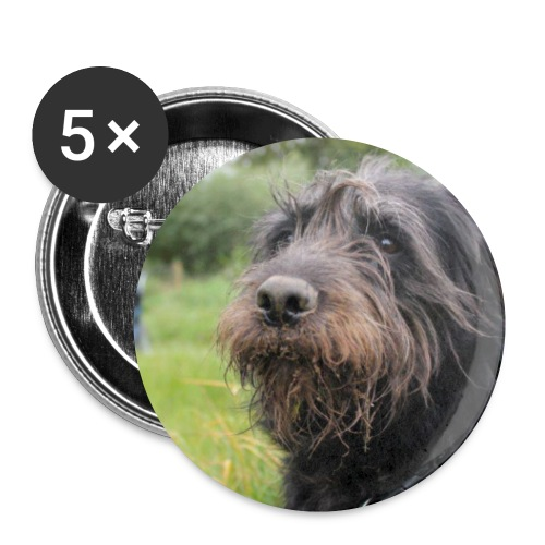 5 Buttons Nora le Chien - Motiv 2 - Buttons small 25 mm