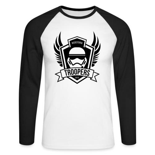 Baseballshirt langarm Webstorm Troopers (Logos einfarbig) - Männer Baseballshirt langarm